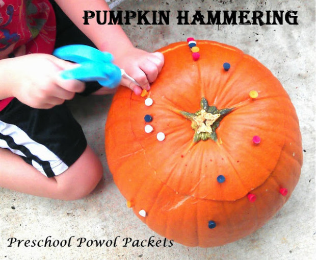 $300 Cash Giveaway and 20 FUN Fall Activities and Crafts for Families - Pumpkin Hammering