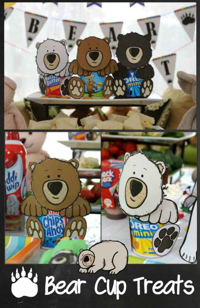 Easy craft for kids and a fun treat for a kids party or bear hunt - printables and tutorial at HappyandBlessedHome.com