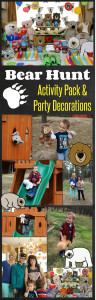 Easy play date idea and Fun Kids Activity - a Bear Hunt activity pack and party decorations by HappyandBlessedHome.com.jpg