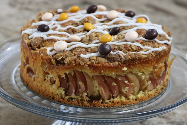 An alternative to traditional holiday desserts - Apple Streusel Crumble Coffee Cake