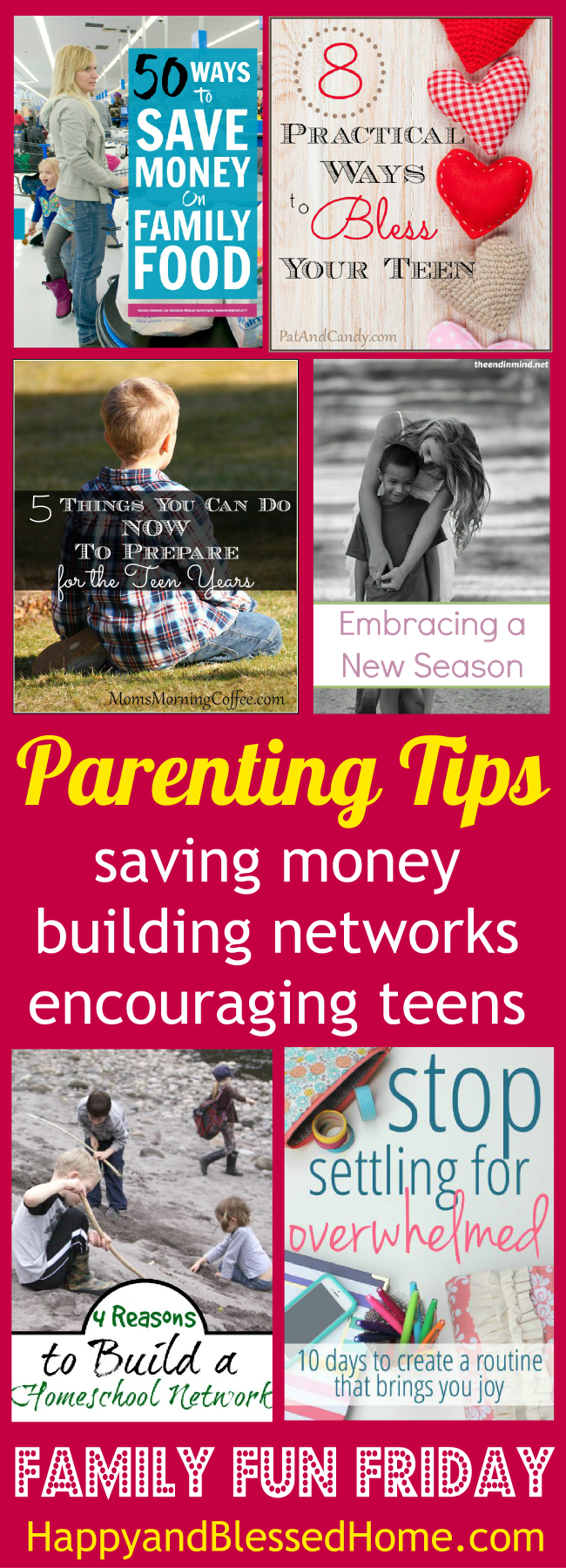 Parenting Tips you can use that will help you save money, build networks and encourage tweens from HappyandBlessedHome.com