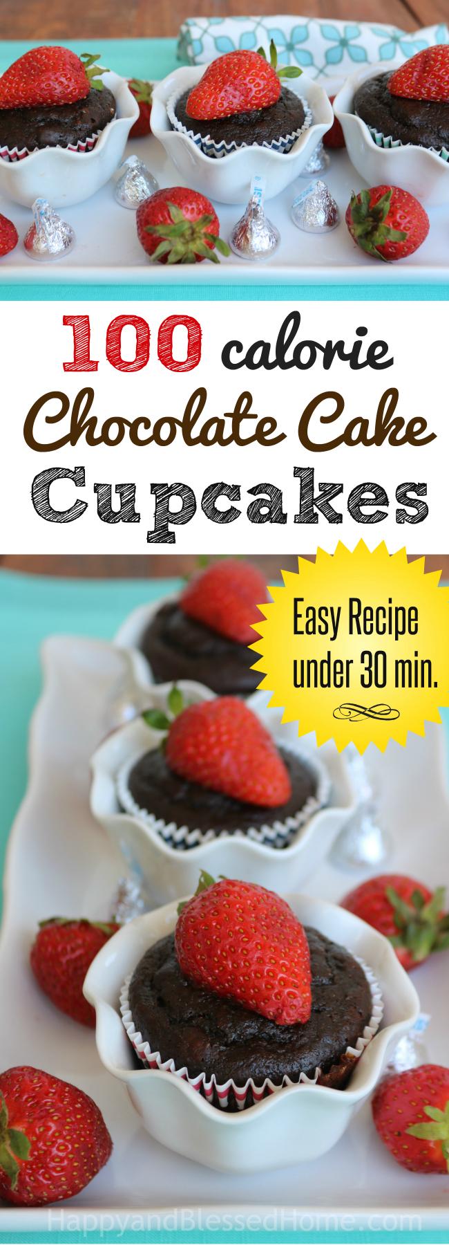 100 Calorie Chocolate Cake Cupcakes Recipe