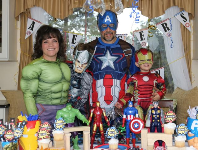 Avengers Assemble - A superhero family units for the DVD Blu-ray Avengers movie launch