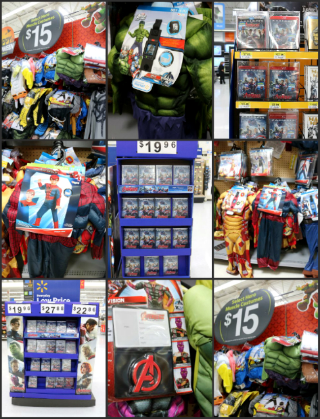 Avengers Costumes and DVD Blu Ray Movie Collage