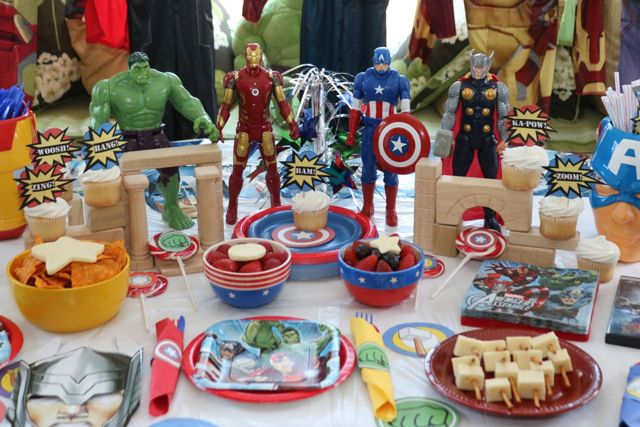 Avengers Superhero Figurines Close Up