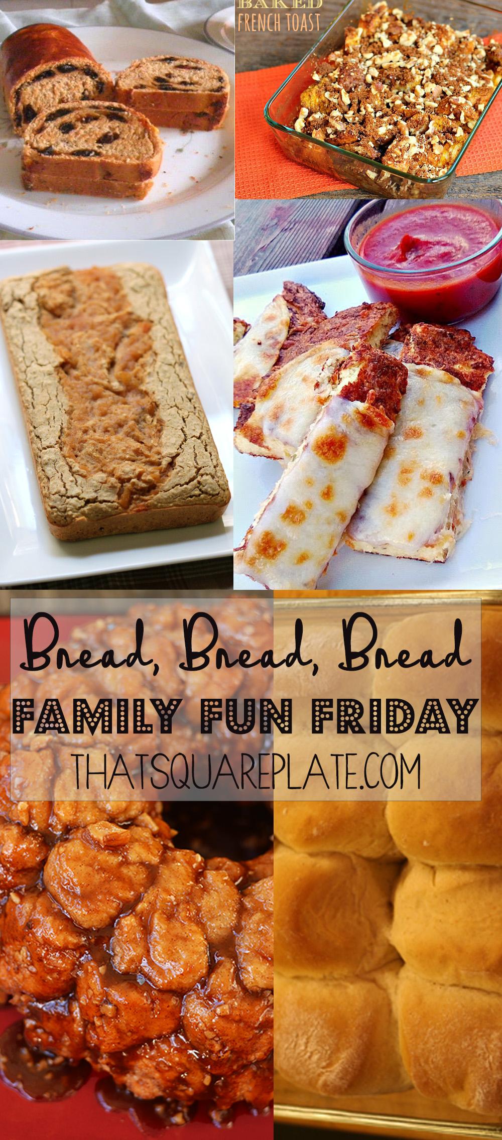 Bread Bread Bread - square plate 10.15