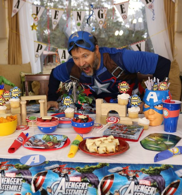 Captain America was really hungry - thank goodness we had plenty to eat at our Avengers Age of Ultron Movie Party!