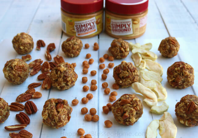Caramel Apple Pecan Energy Bites - just mix, roll and eat