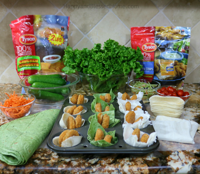 Create Chicken Nuggets veggie boats to get kids to each more veggies