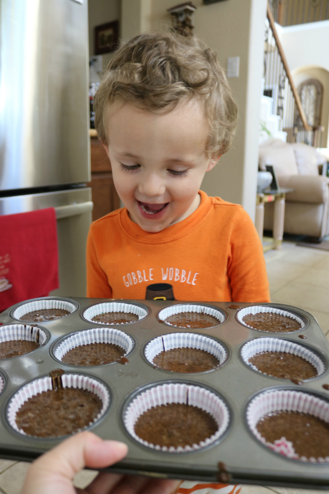 Everyones excited about mommys chocolate cupcakes