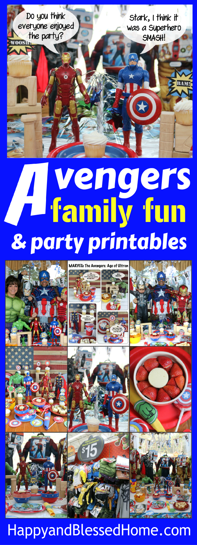 Everything you need to host a Superhero birthday party of Avengers movie watch - complete with party plan, easy recipes and printables - family fun for all your favorite Superheroes!