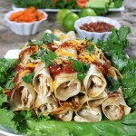 Free Football Printables and Baked Tequila Lime Chicken Taquitos