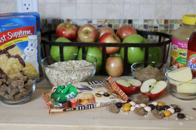 Ingredients for a delicious holiday dessert - Apple Streusel Crumble Coffee Cake