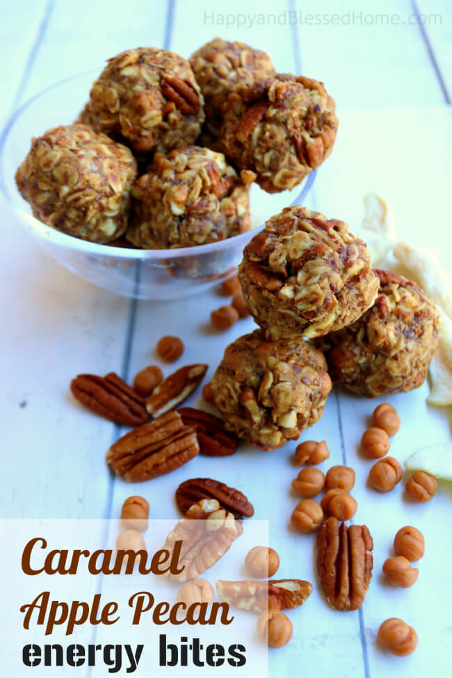 Just mix, roll and eat these tasty Caramel Apple Pecan Energy Bites