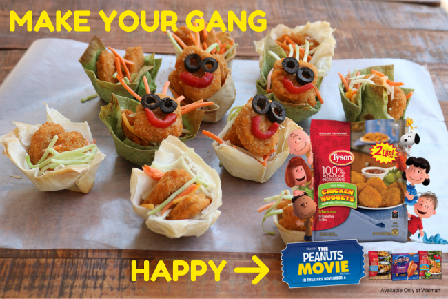 Make your gang happy with protein powered snacking fun with Tyson Chicken Nuggets and The Peanuts Movie article by HappyandBlessedHome.com