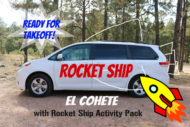 Rocket Ship Activity Pack for Kids Fun for travel in your el cohete with kids!