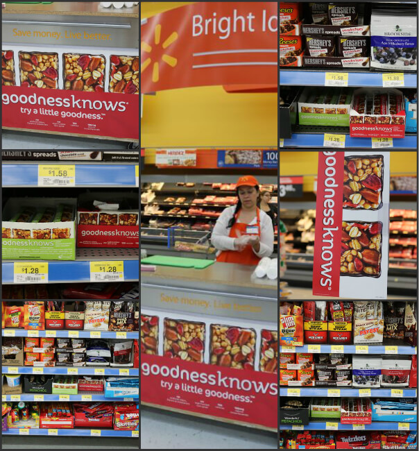 goodnessknows® snack squares look for free samples and find these tasty snacks at the checkout at Walmart