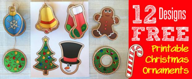 12 FREE Printable Christmas Ornaments