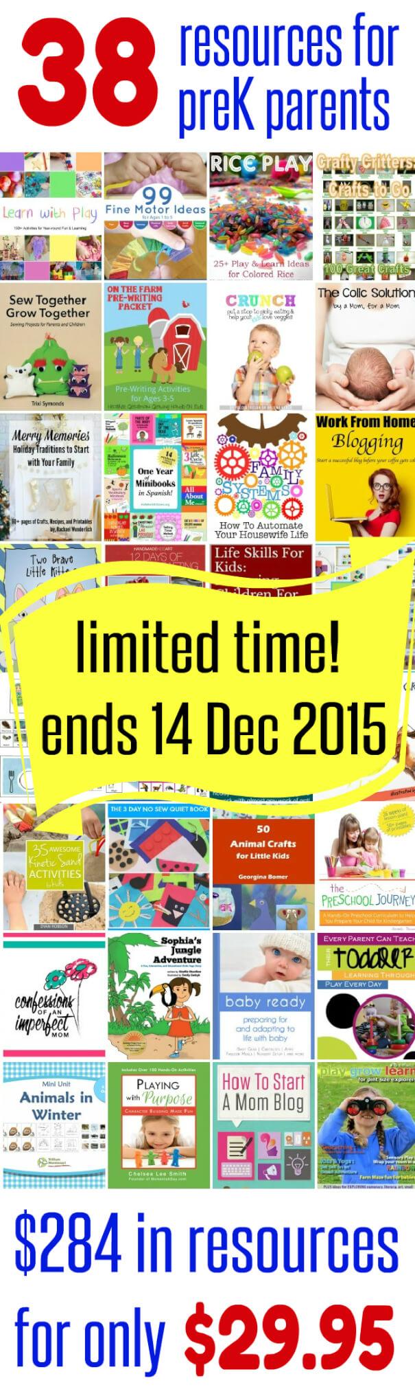 38 Resources for Preschool Parents incredible eBook bundle sale ends 14 December 2015
