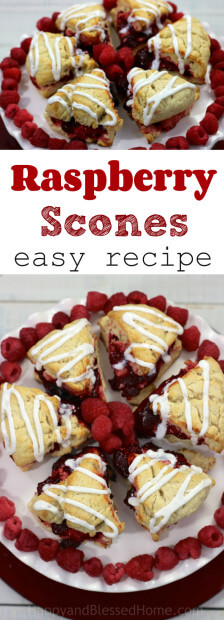 A dish pretty enough to decorate with - red and white raspberry scones recipe