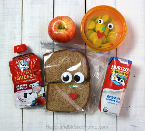 Add google eyes for some lunchbox fun