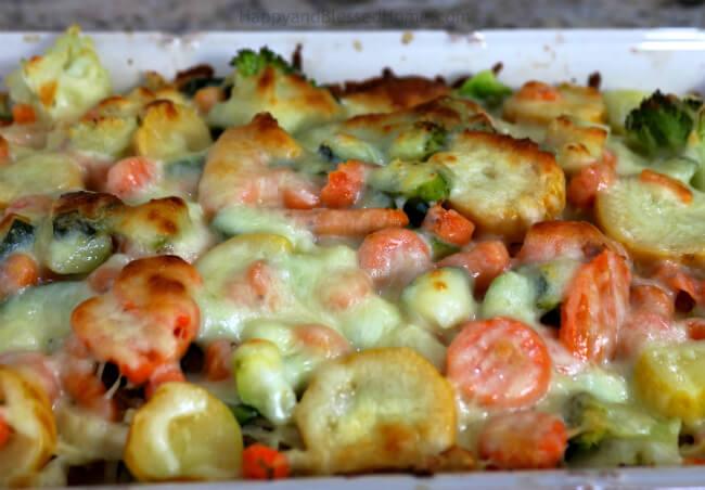 Easy Cheesy Chicken Vegetable Casserole