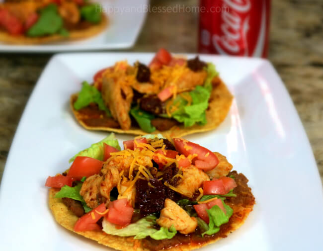 Easy Recipe for Smoky Chipotle Pepper Chicken Tostadas
