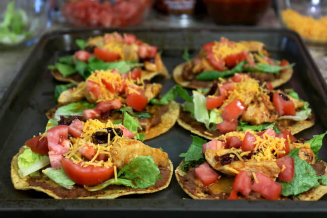 Easy family meal - Tasty Chipotle Pepper Chicken Tostadas
