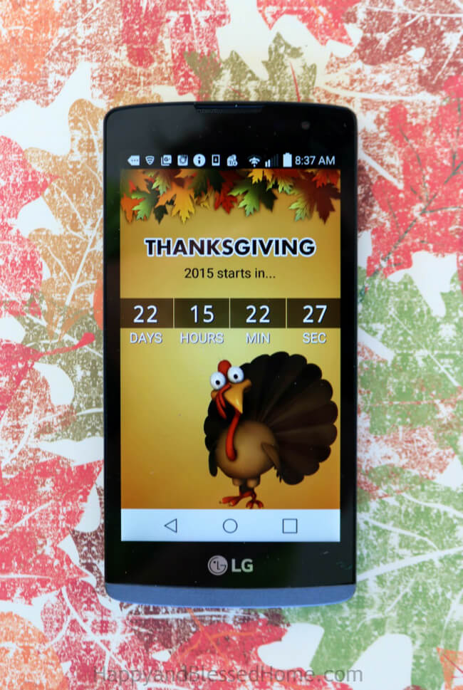 FREE App to help you track the days until Thanksgiving