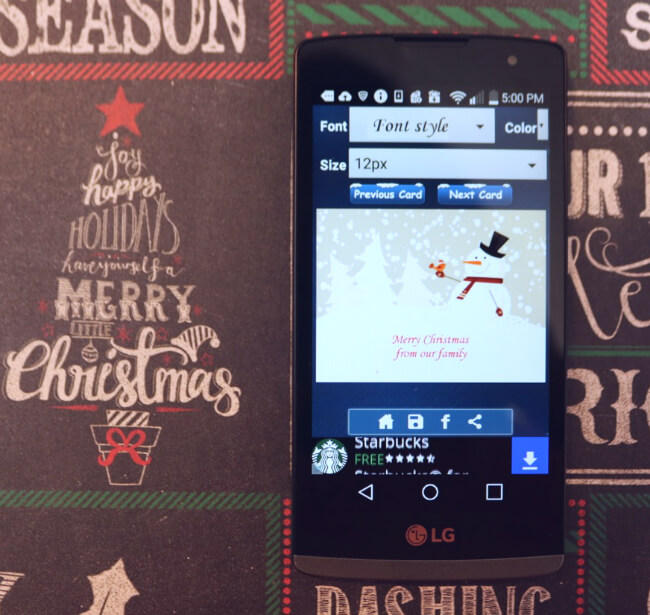 FREE Christmas Card App lets you create digital Christmas Cards