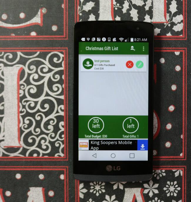 FREE Christmas Shopping List App
