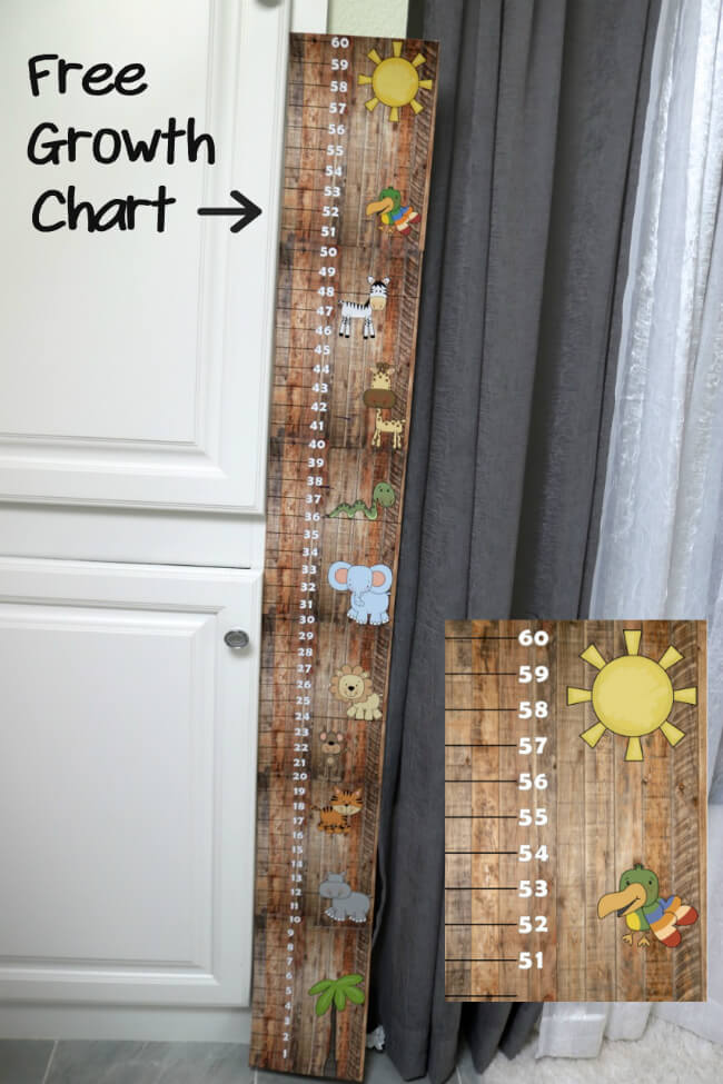 Free Growth Chart up to 60 inches