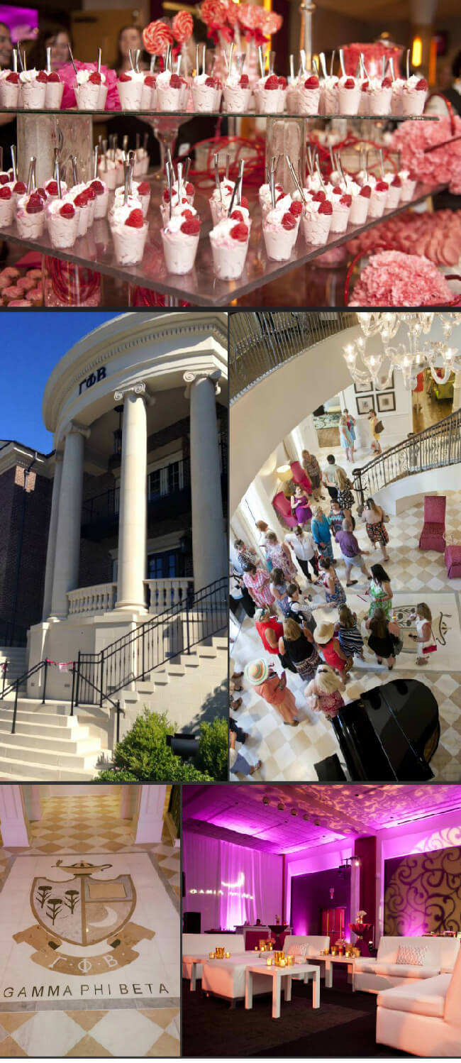 Gamma Phi Beta Sorority House and Alumni Celebration at The University of Alabama 2015