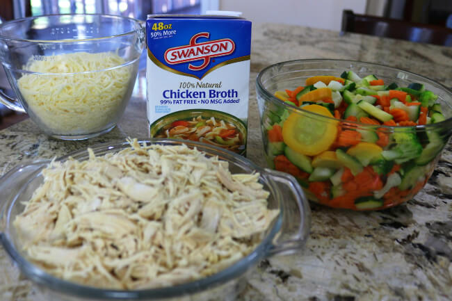 Great Ingredients for Cheesy Chicken Vegetable Casserole