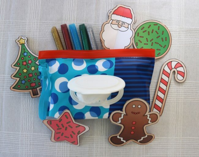Huggies Clutch N Clean wipesare great for Christmas Crafts and keeping Kids Clean