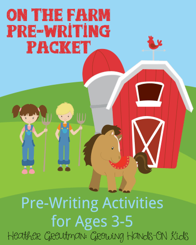 On-the-farm-pre-writing-packet-8x10-cover
