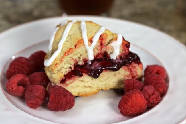 Raspberry Pie Filling baked right in