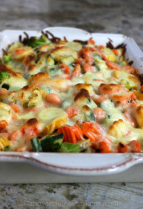 So delicious no one will know it is carb free - Cheesy Chicken Veggie Casserole - an easy recipe