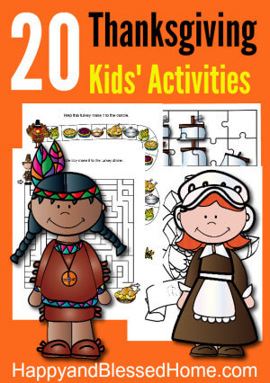 Over 20 FREE Pages of Thanksgiving Activities for Kids