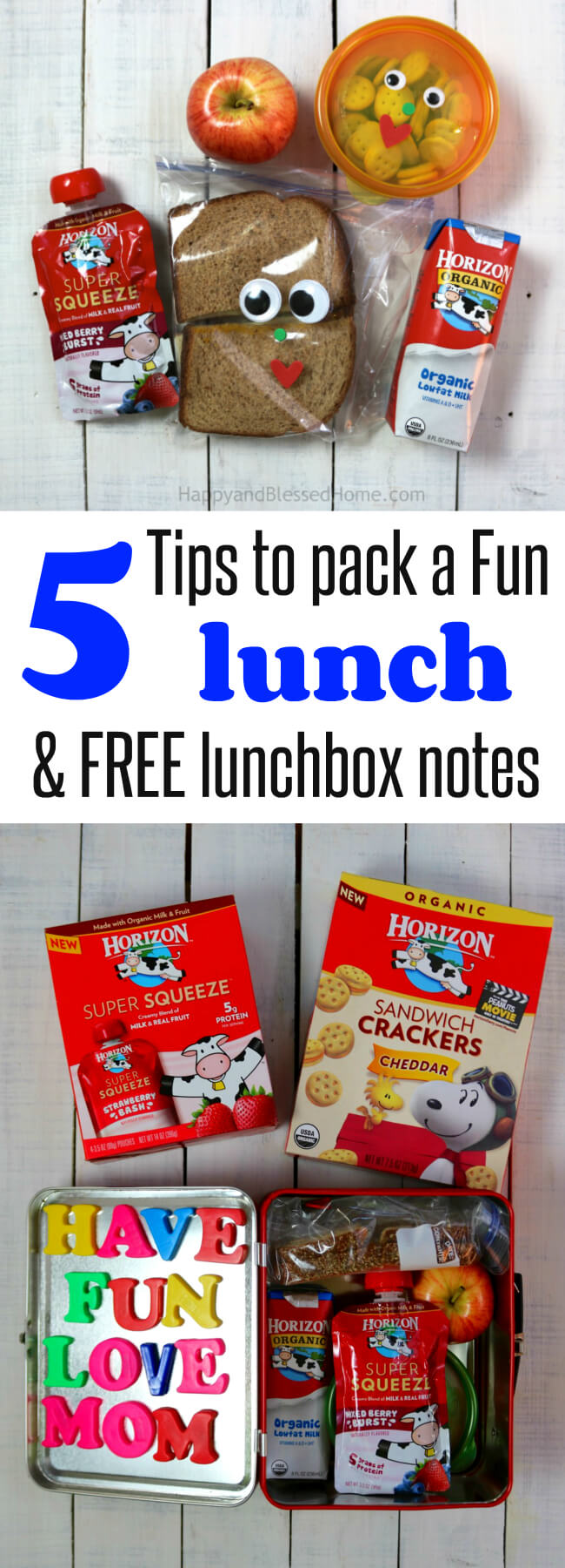 Such great and simple ideas for packing a kid's lunch - plus 15 different lunchbox note designs - how clever!