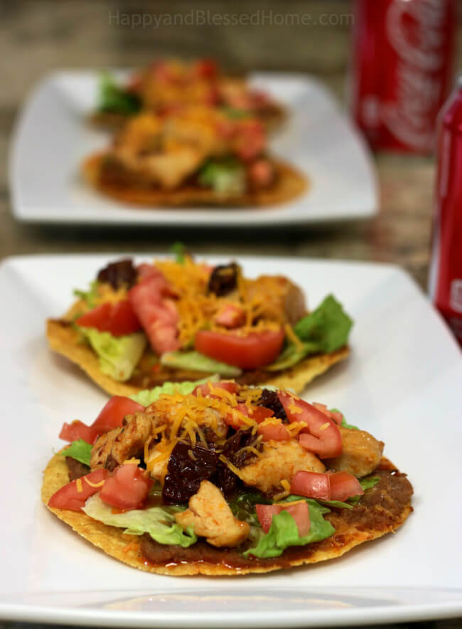 Tasty and Easy Recipe for Chipotle Pepper Chicken Tostadas
