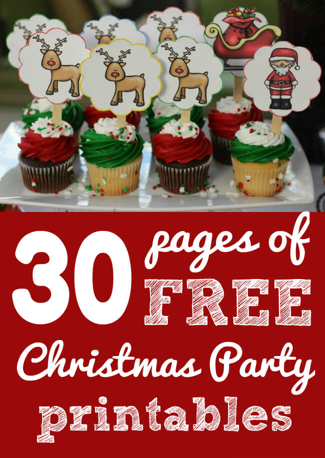 FREE Christmas Party Printables from HappyandBlessedHome.com
