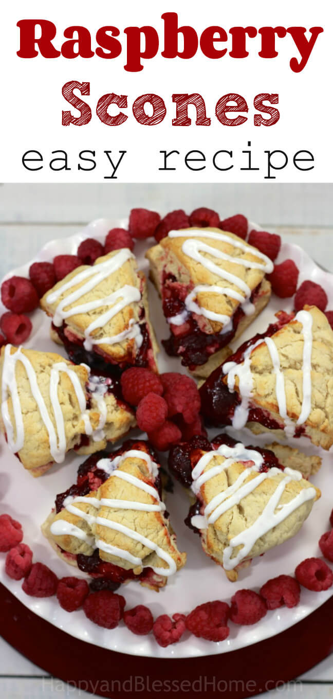 Raspberry Scones at HappyandBlessedHome.com