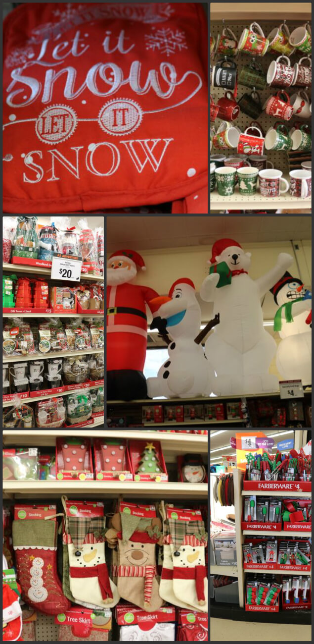 An awesome collection of house warming holiday decor for Christmas at Big Lots