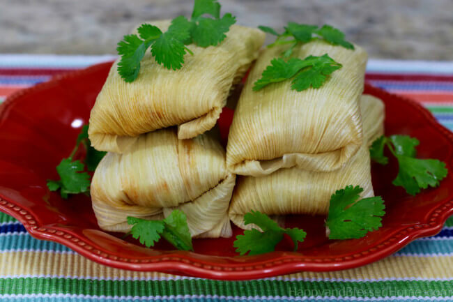 Easy corn and shredded chicken tamale recipe packed with flavor