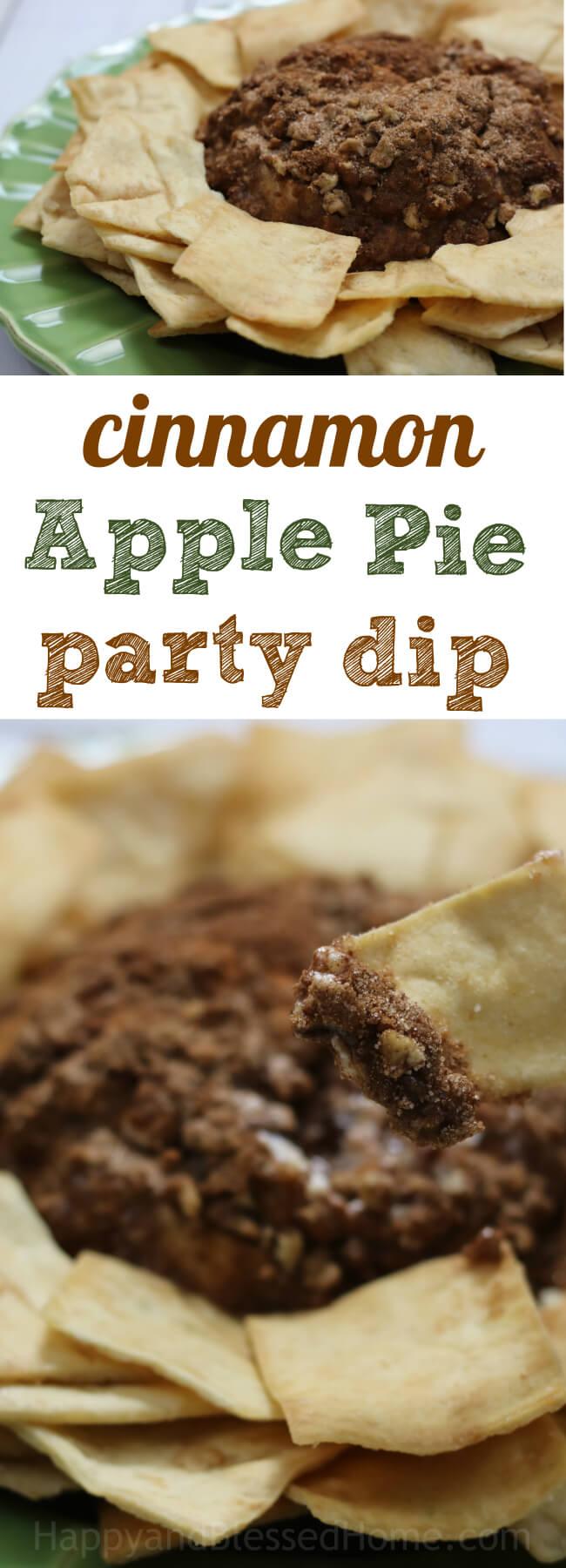 Easy party dip recipe - Cinnamon Apple Pie - tastes like cinnamon sugar pretzels but in a dip