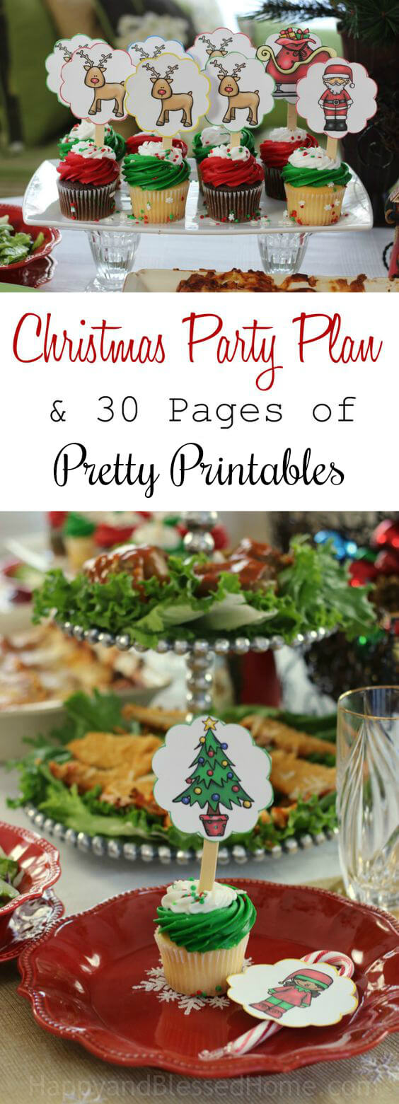 Exquisite Christmas Party Plan and 30 Pages of Pretty Printables for the perfect Holiday Party