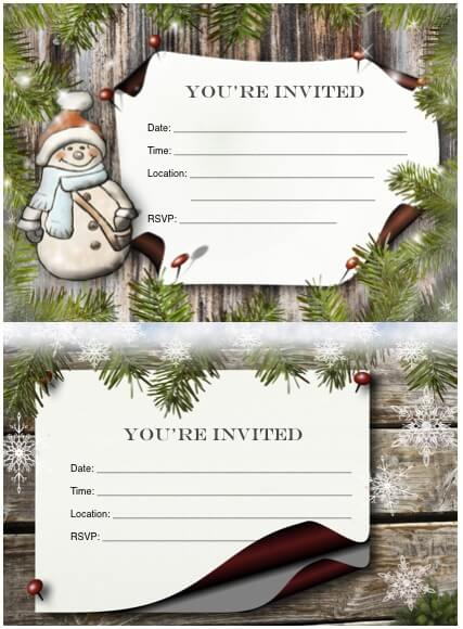 FREE Christmas party invitations 2015