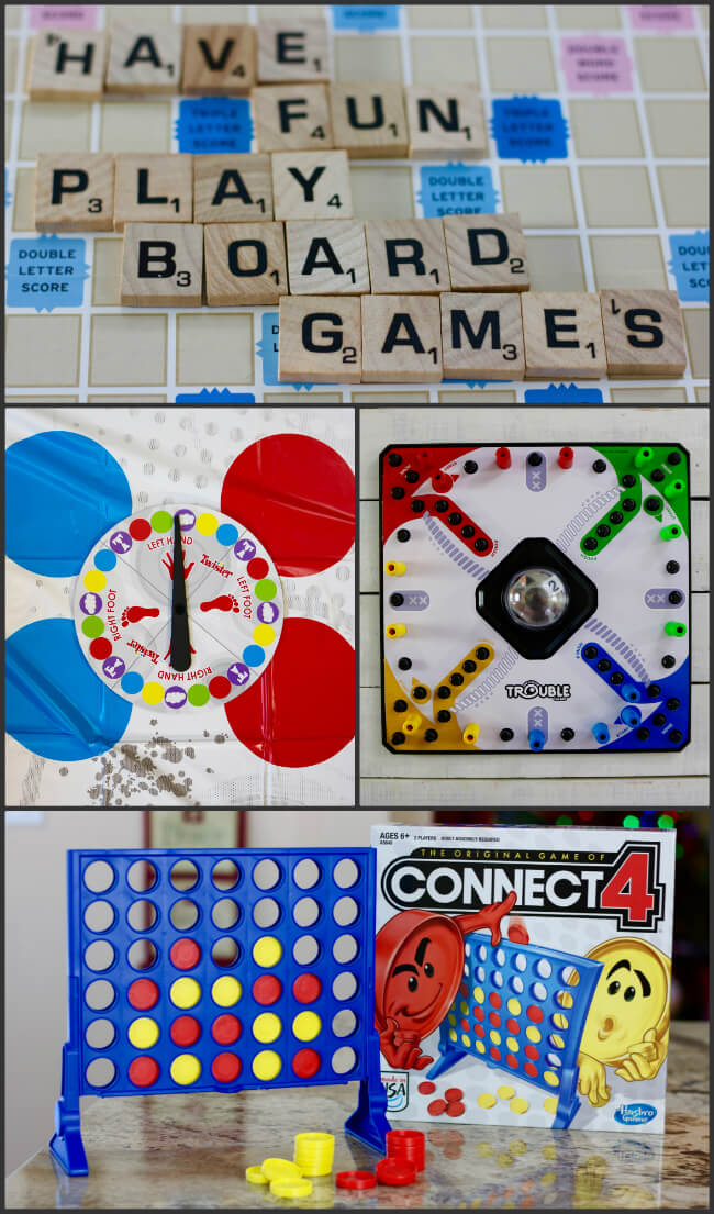Four Hasbro Games for game time fun article by HappyandBlessedHome.com