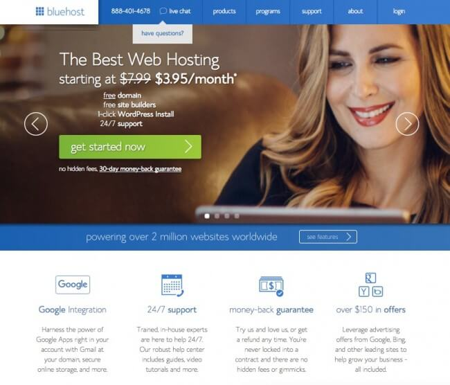 How to start a blog - Get started with Blue Host to start your blog